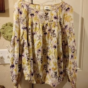 Old Navy 💐Wildflower Blouse🌾